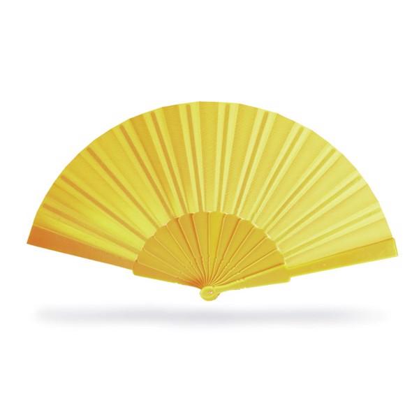 Manual hand fan Fanny - Yellow