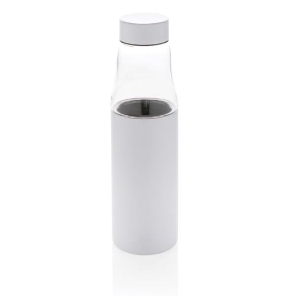 Nepropustná skleněná termo láhev Hybrid - Bílá