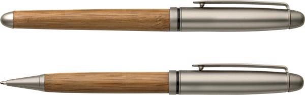 Bolígrafo y roller de madera de haya
