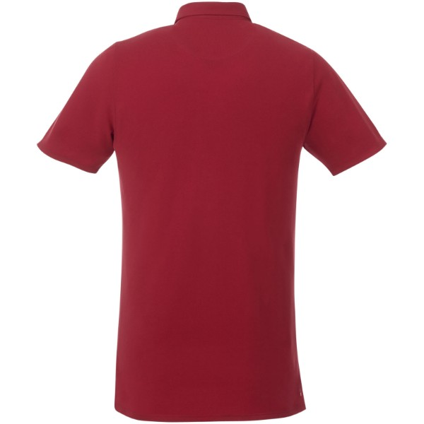 Atkinson short sleeve button-down men's polo - Red / XS