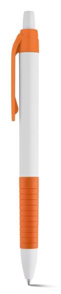 AERO. Kuličkové pero s protikluzovým gripem - Oranžová