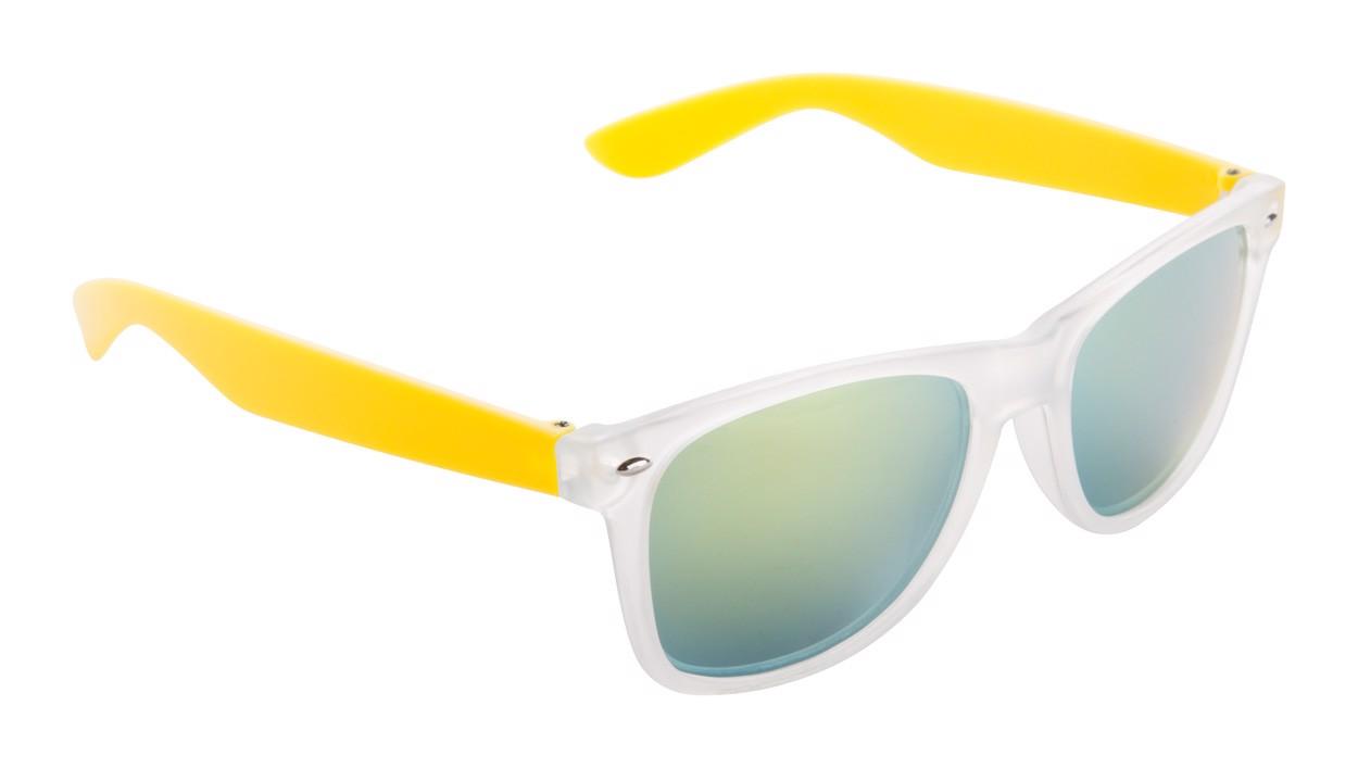Sluneční Brýle Harvey - Žlutá / Ledově Bílá
