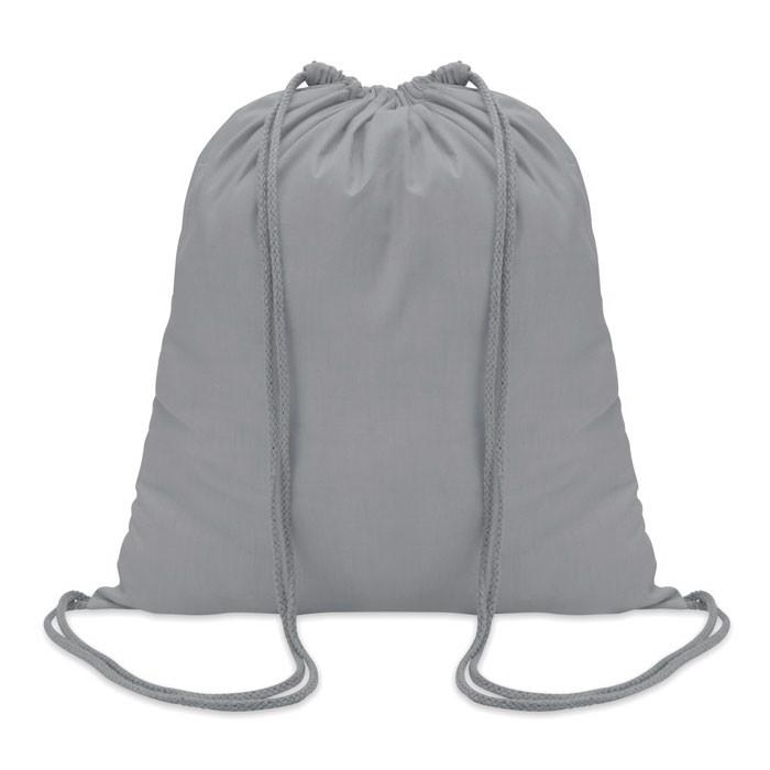 100gr/m² cotton drawstring bag Colored - Grey
