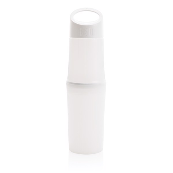 Organická lahev na vodu BE O Bottle, vyrobeno v EU - Bílá