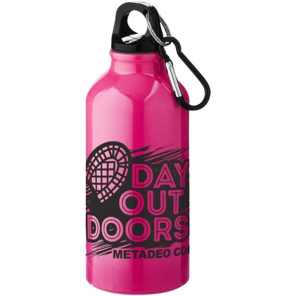 Nápojová láhev s karabinou Oregon - Neonově Růžová