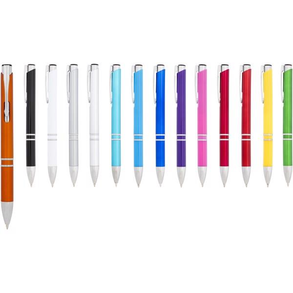Moneta ABS kuličkové pero - Bílá