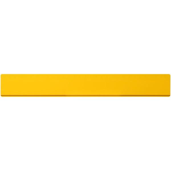 Renzo 30 cm plastic ruler - Yellow