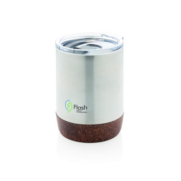 Malý korkový termohrnek - Stříbrná