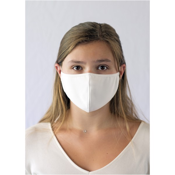 Clover face mask - White