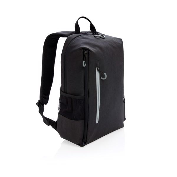 """Lima 15,6""""-es RFID & USB laptop hátizsák, PVC-mentes - Fekete / Szürke"""