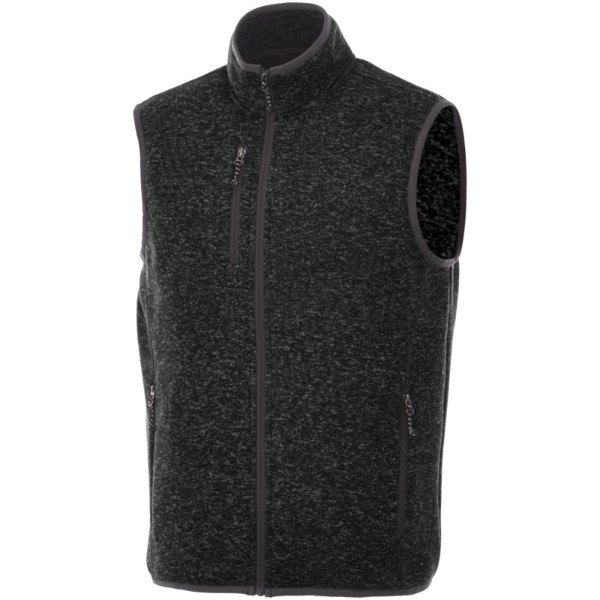 Fontaine knit bodywarmer - Heather smoke / XL