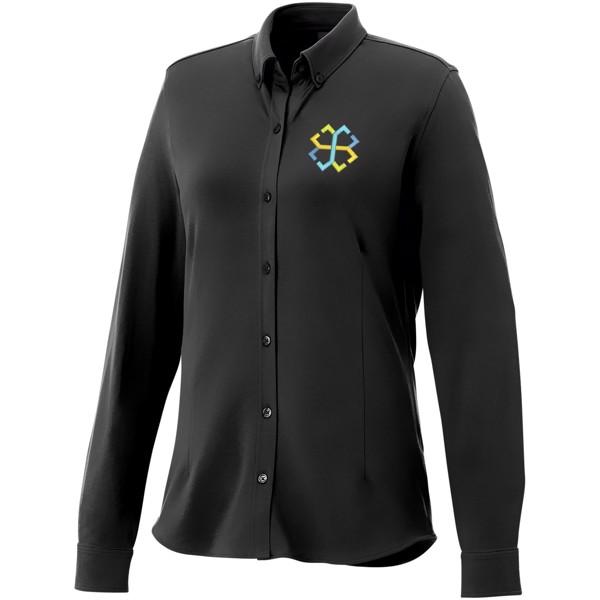 Bigelow long sleeve women's pique shirt - Solid black / L