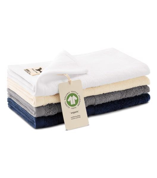 Malý ručník unisex Malfini Organic - Bílá / 30 x 50 cm