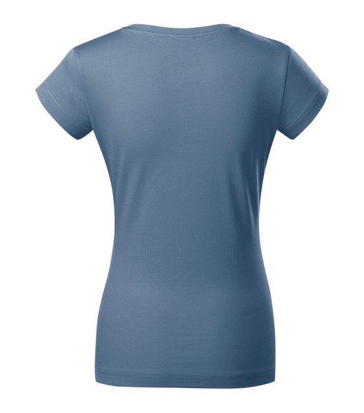 Tričko dámské Malfini Fit V-neck - Denim / XS