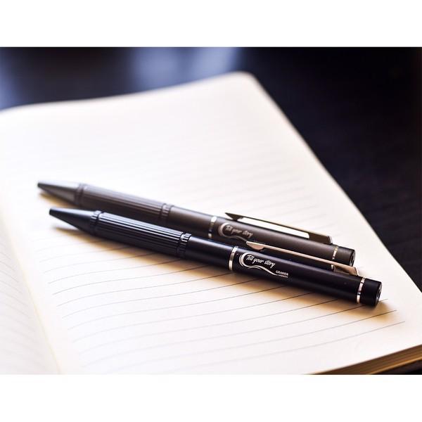 Długopis ze wskaźnikiem laserowym Stellar - Czarny