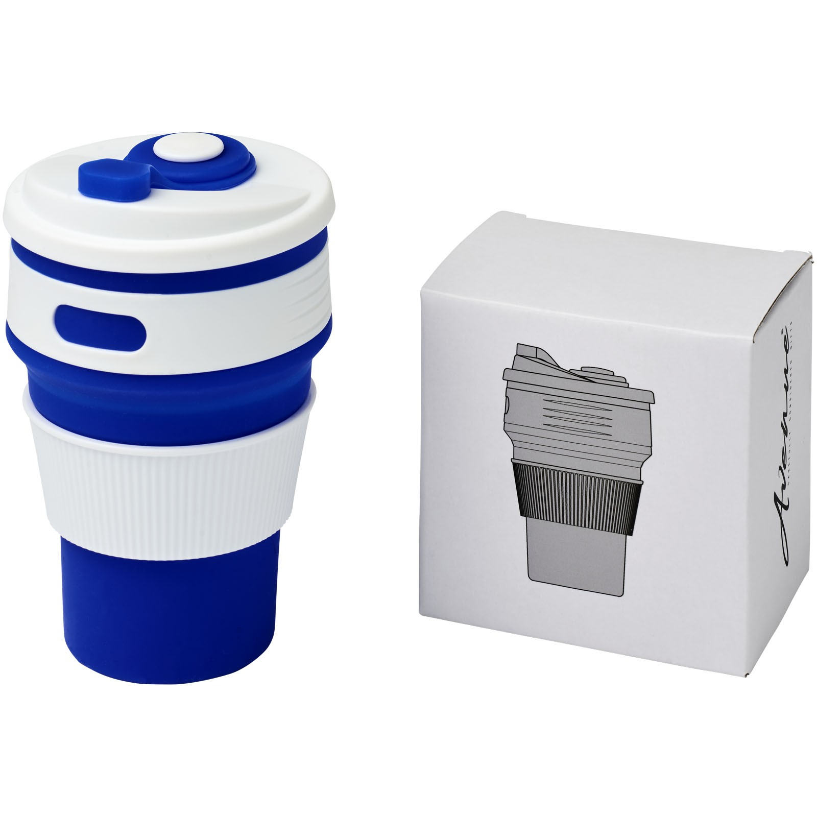 Cora 350 ml collapsable tumbler - Blue