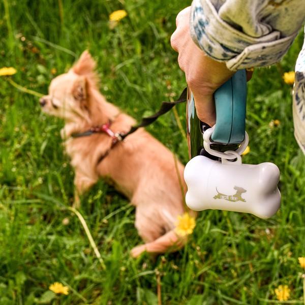 Pojemniczek z woreczkami Neat Dog - Biały