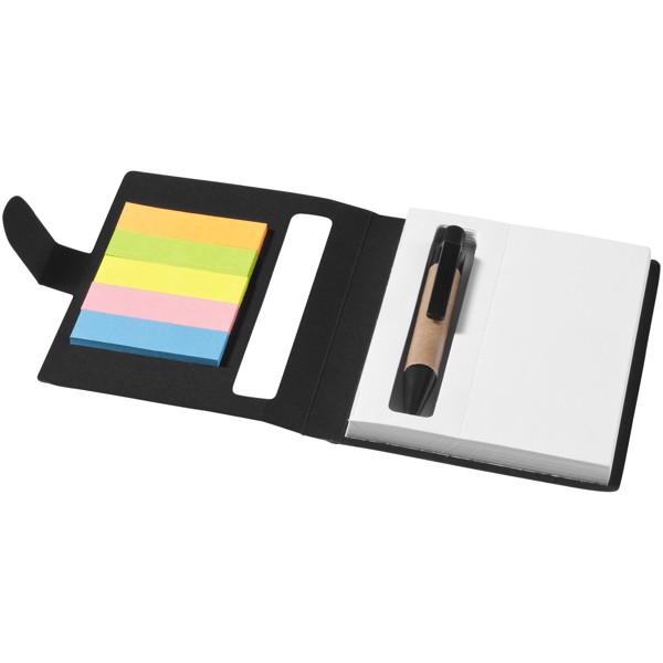 Brožura barevných lepicích poznámkových bločků Reveal - Černá