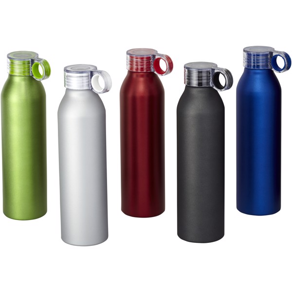 Hliníková sportovní láhev Grom - Stříbrný