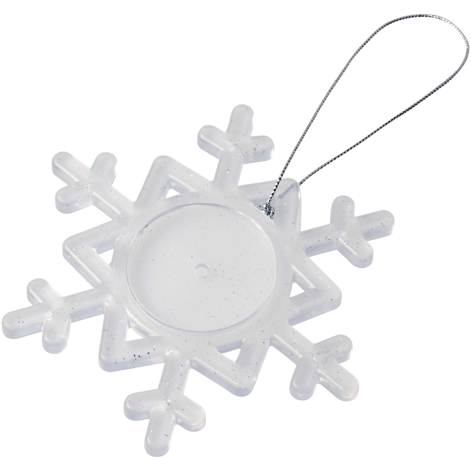 Elssa snowflake ornament - Frosted clear / White