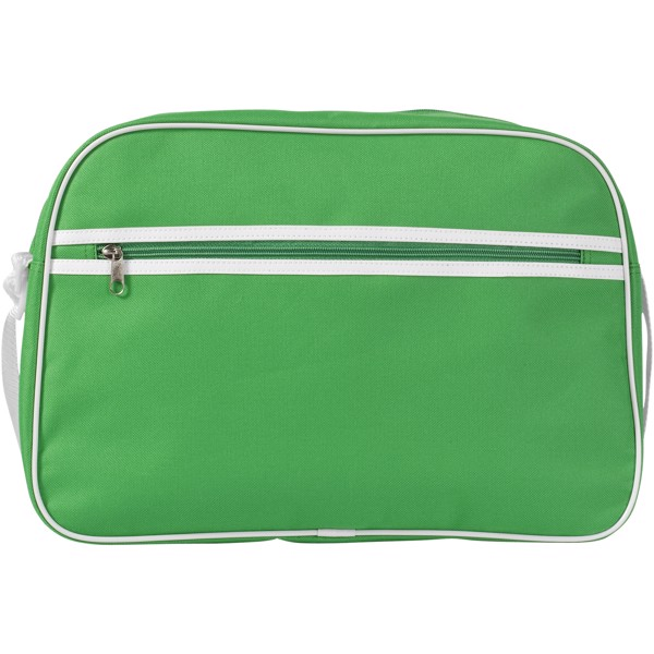 Sacramento messenger bag - Bright green / White