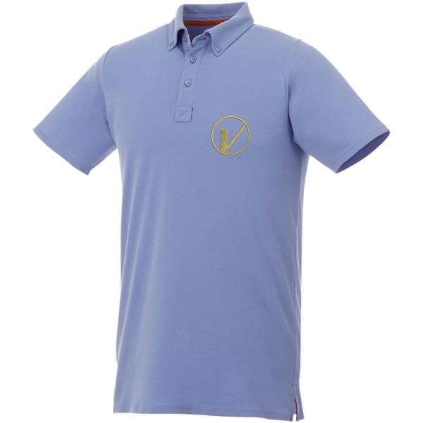 Polo boutonné manches courtes homme Atkinson - Bleu Clair / XXL