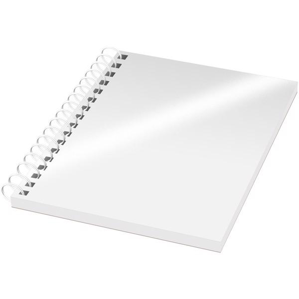 Poznámkový blok se syntetickými deskami Desk-Mate® A6 - Bílá