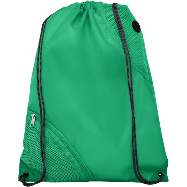 Oriole duo pocket drawstring backpack - Green