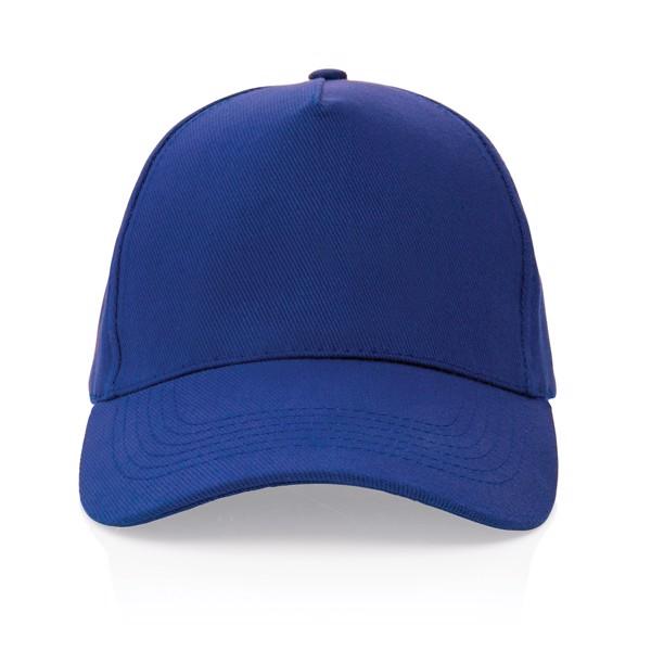 5 dílná kšiltovka Impact z 280g recyklované bavlny AWARE™ - Modrá