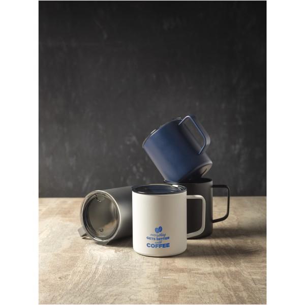 Rover 420 ml copper vacuum insulated mug - White