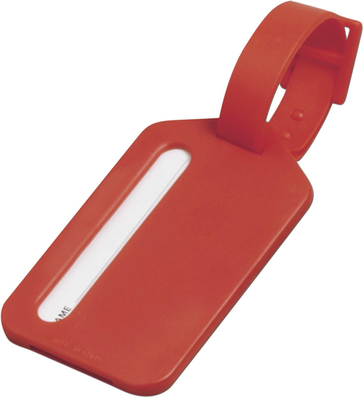 Polystyrene luggage tag - Red