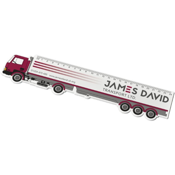 Plastové pravítko ve tvaru nákladního auta Larry 24 cm