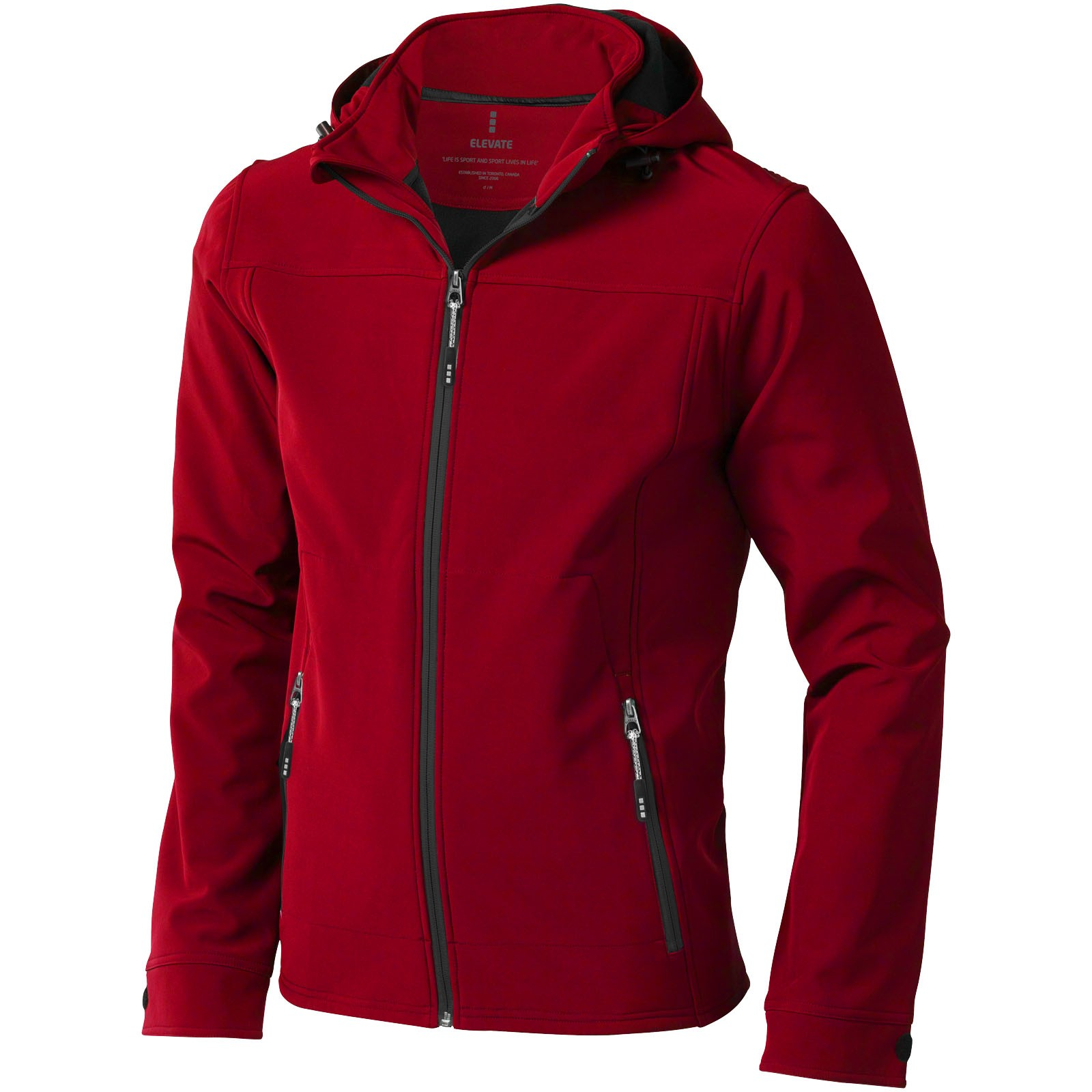 Langley men's softshell jacket - Red / S
