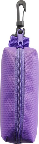 Nylon (420D) pouch with felt tip pens - Purple