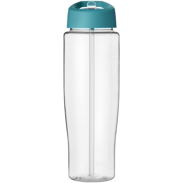 H2O Tempo® Bidón deportivo con tapa con boquilla de 700 ml - Transparente / Azul aqua