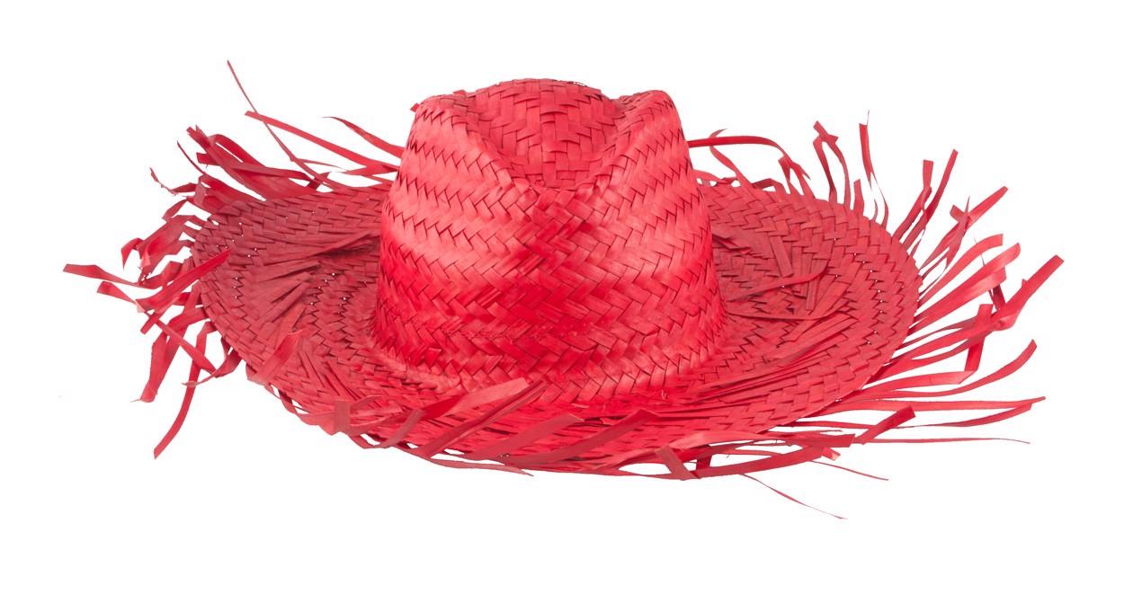 Slaměný Klobouk Filagarchado - Červená