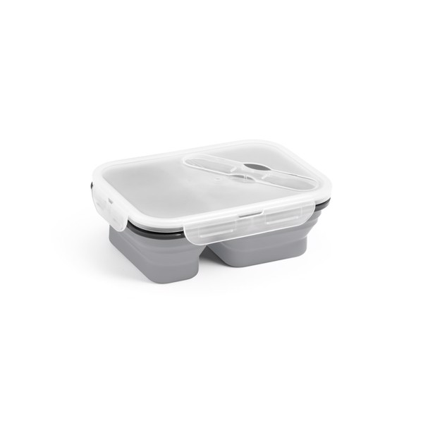 DILL. Retractable airtight container 480 and 760 ml - Light Grey