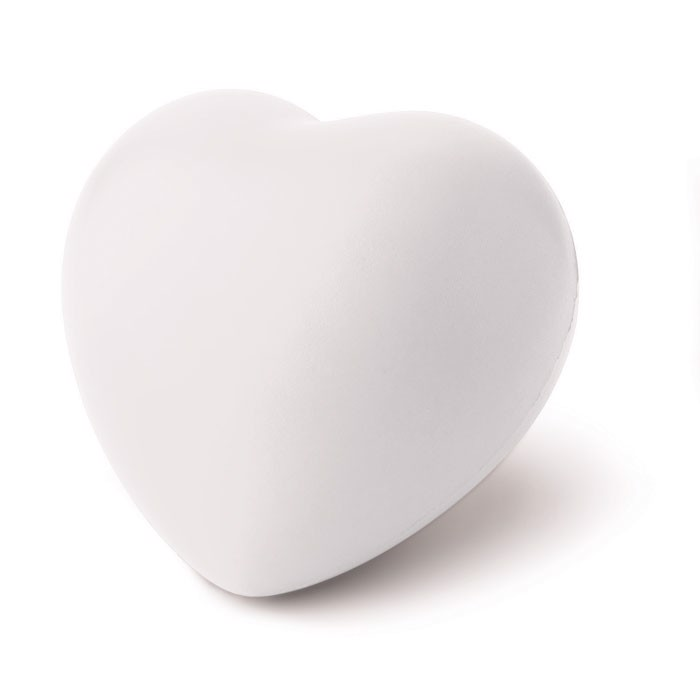 Anti-stress heart PU material Lovy - White