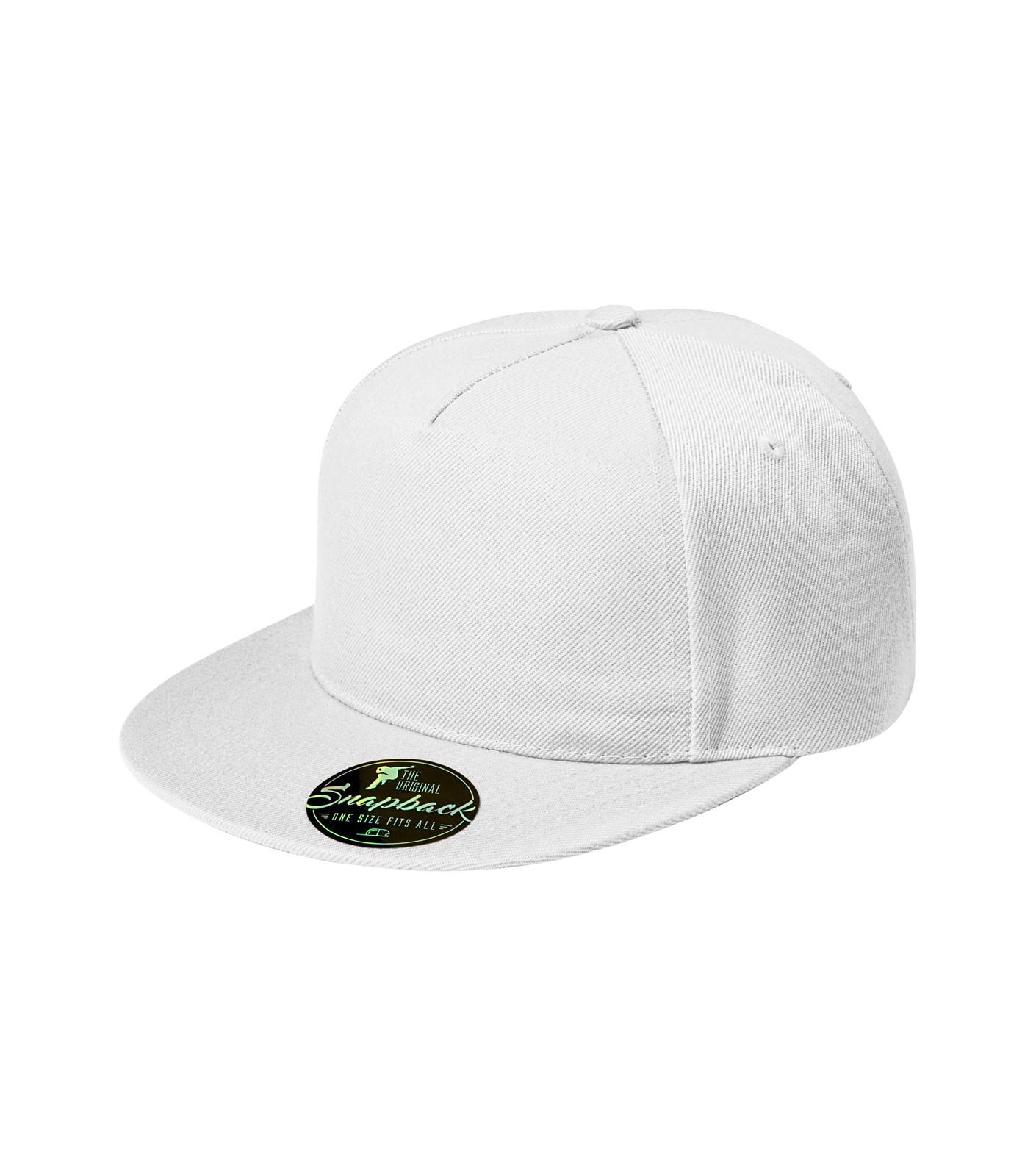 Cap unisex Malfini Rap 5P - White / adjustable