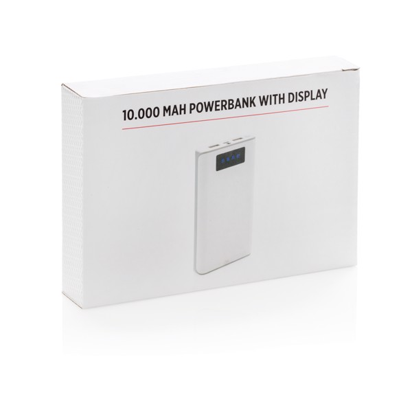 10 000 mAh powerbank kijelzővel