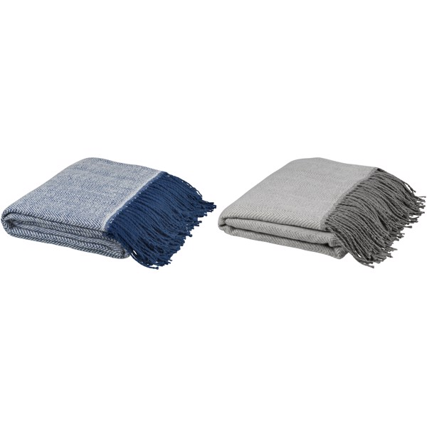 Haven herringbone throw blanket - Grey