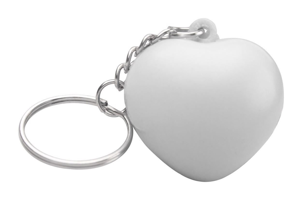 Antistress Ball With Keyring Silene - White