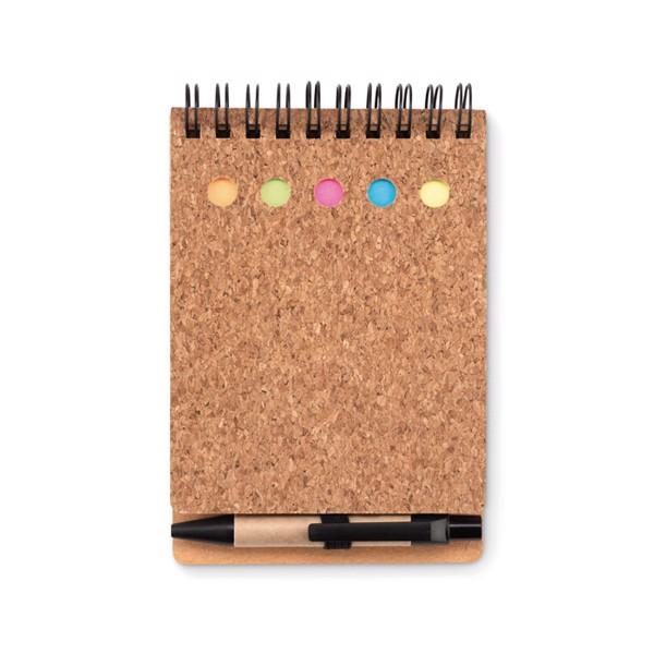 Cork notebook and sticky notes Multicork