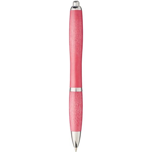 Nash kuličkové pero z pšeničné slámy se špičkou z chromu - Magenta