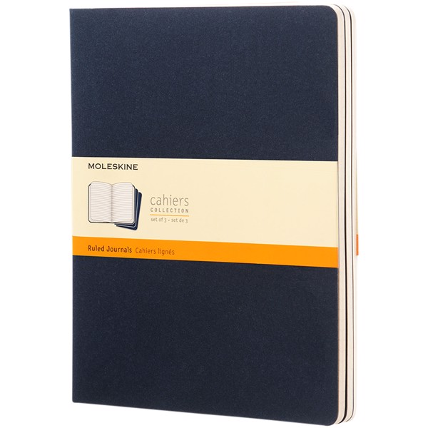 Cahier Journal XL - ruled - Indigo blue