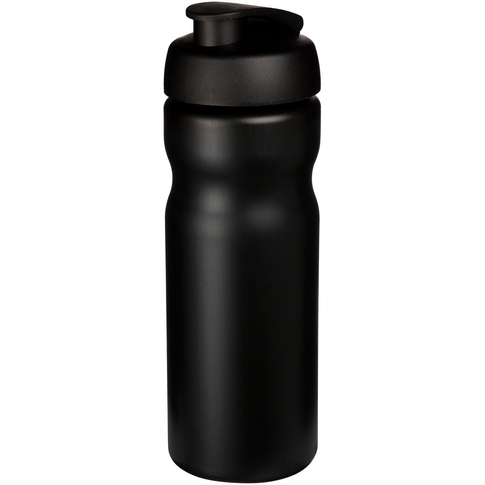 Baseline® Plus 650 ml flip lid sport bottle - Solid black