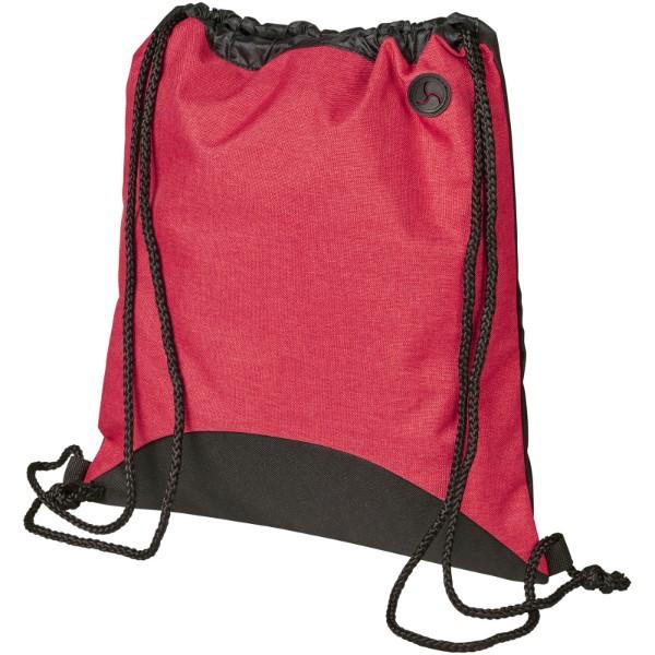 Street šňůrkový batoh - Červená s efektem námrazy