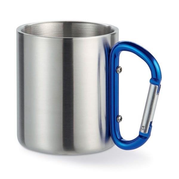 Metal mug & carabiner handle Trumbo - Blue