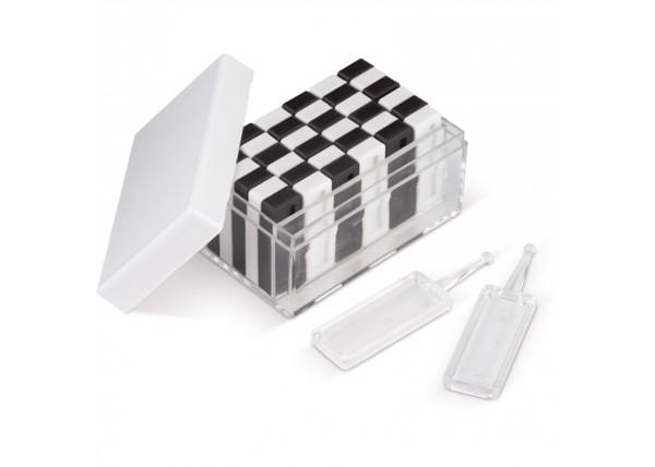 Tower & domino game 36-pcs - White / Black