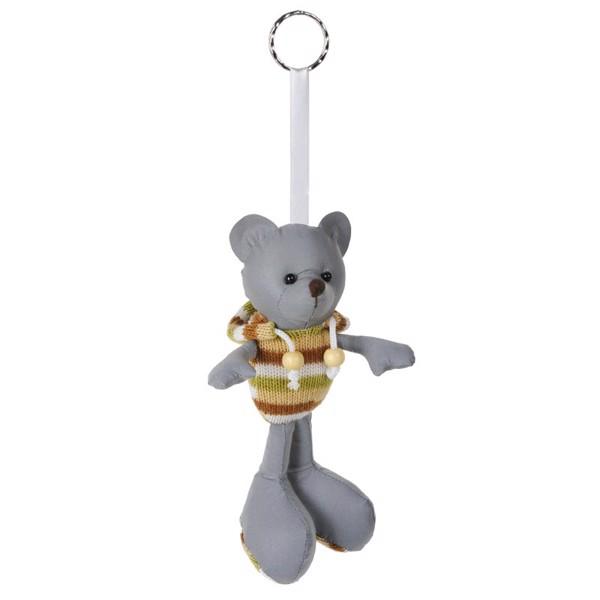Teddy reflective keyring